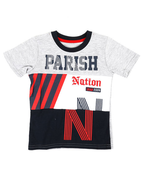 Parish - Color Block Cut & Sew Jersey Tee (2T-4T)