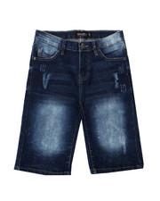 Arcade Styles - Ripped Stretch Denim Shorts (8-20)-2362390