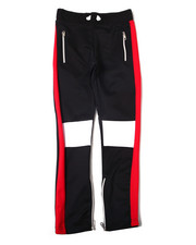 Arcade Styles - Color Block Knee Cut Poly Interlock Pant (8-20)-2362495