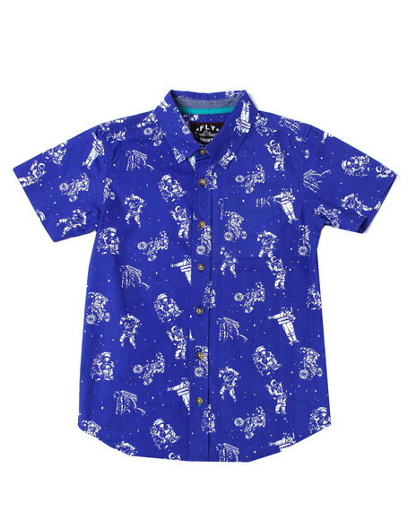 Fly Society - Astronaut Printed S/S Woven (8-20)