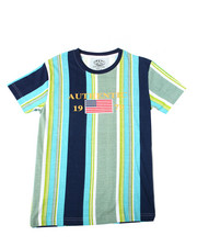 Sizes 8-20 - Big Kids - Vertical Striped S/S Tee (8-20)-2362445