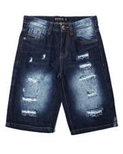 Sizes 8-20 - Big Kids - Repaired Denim Shorts (8-20)-2362418