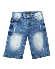 Sizes 8-20 - Big Kids - Ripped Stretch Denim Shorts (8-20)-2362397