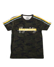 Sizes 8-20 - Big Kids - All Over Print Camo S/S Tee w/ Sleeve Tapin And Chest Print (8-20)-2362430