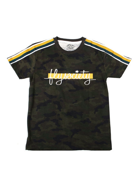 Fly Society - All Over Print Camo S/S Tee w/ Sleeve Tapin And Chest Print (8-20)