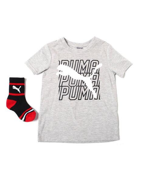 Puma - S/S Graphic Tee + Crew Socks Set (4-7)