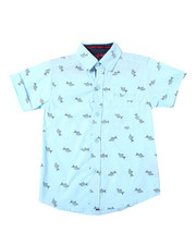 Arcade Styles - Origami Shark All Over Print S/S Woven Shirt (4-7)-2362211