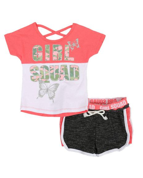 Delia's Girl - 2 Pc Tee & Shorts Set (2T-4T)