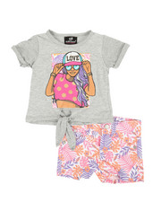 Dollhouse - 2 Pc Tee & Shorts Set (Infant)-2360620