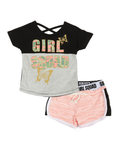 Delia's Girl - 2 Pc Tee & Shorts Set (4-6X)