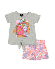 Dollhouse - 2 Pc Tee & Shorts Set (4-6X)-2360636