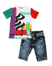 Rocawear - 2Pc Denim Short Set (4-7)-2357504