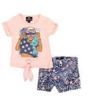 Dollhouse - 2 Pc Tee & Shorts Set (Infant)-2360680