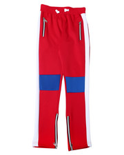 Arcade Styles - Color Block Knee Cut Poly Interlock Pant (8-20)-2362505