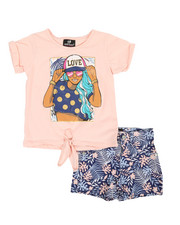 Dollhouse - 2 Pc Tee & Shorts Set (4-6X)-2360684
