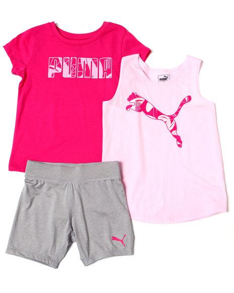 Puma - Tee, Tank + Biker Short Set (7-16)
