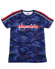 Sizes 8-20 - Big Kids - All Over Print Camo S/S Tee w/ Sleeve Tapin And Chest Print (8-20)-2362425