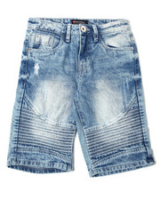 Arcade Styles - Rigid Denim Biker Shorts (8-20)-2362369