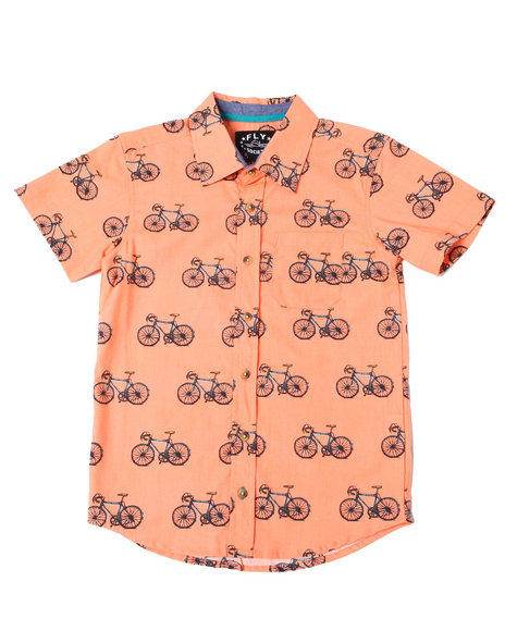 Fly Society - Bike Printed S/S Woven (8-20)