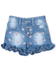 Bottoms - Fiona Denim Ruffle Embroidered Short (2T-4T)-2361222