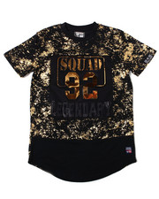 Phat Farm - S/S All Over Printed Embossed Metallic Vinyl Patch Crew Neck Tee (4-7)-2362357
