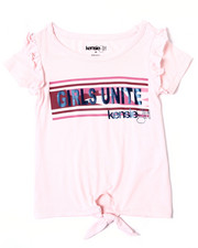 Sizes 2T-4T - Toddler - Millie Tie Front Ruffle Tee (4-6X)-2361230