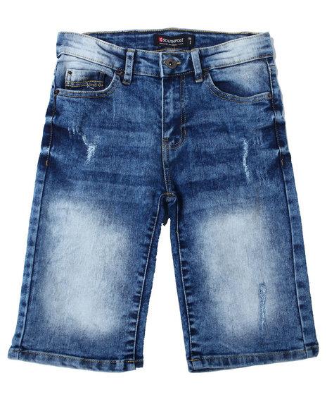 Arcade Styles - Ripped Stretch Denim Shorts (8-20)