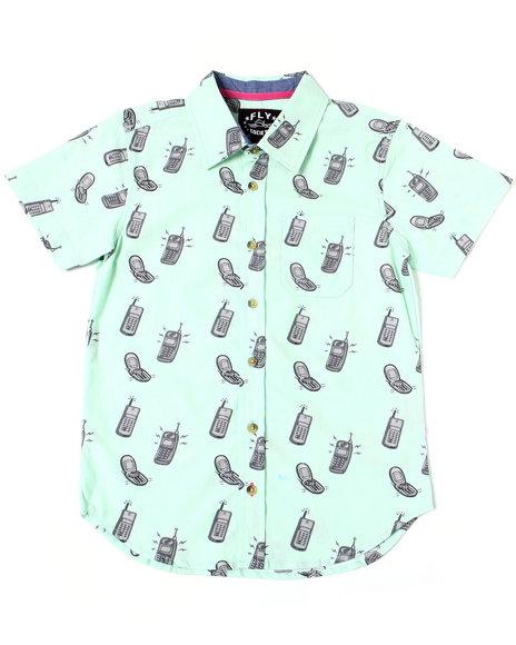 Fly Society - Flip Phone Printed S/S Woven (8-20)