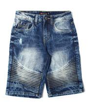 Arcade Styles - Rigid Denim Biker Shorts (8-20)-2362362