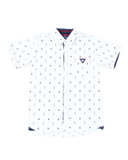 Arcade Styles - Lighthouse Sailboat All Over Print S/S Woven Shirt (8-20)-2360588
