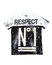 Phat Farm - S/S Cut & Sew Two Tone Splatter Crew Neck Jersey Tee (4-7)-2362295