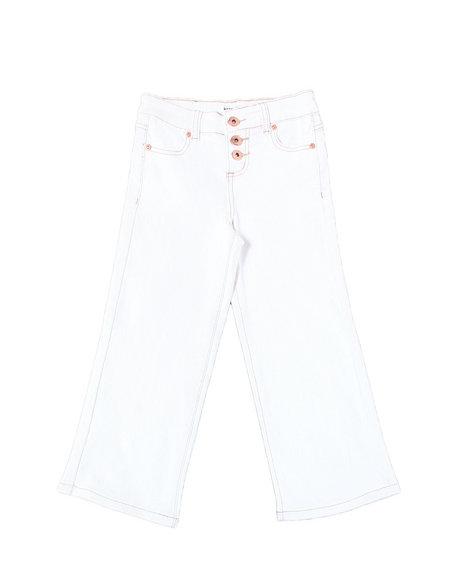Kensie Girl - Monica Dip Dye Cropped Wide Leg Jean (2T-4T)