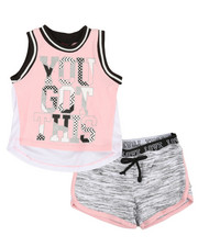 Delia's Girl - 2 Pc Active Tank & Shorts Set (2T-4T)-2357509