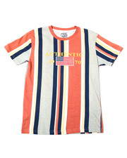 Sizes 8-20 - Big Kids - Vertical Striped S/S Tee (8-20)-2362435