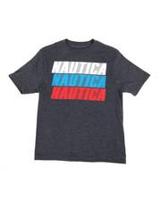 Nautica - Nautica Logo Printed S/S Tee (4-7)-2364552
