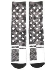 DRJ SOCK SHOP - American Tie Dye Crew Socks-2356704