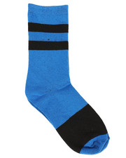 DRJ SOCK SHOP - Black & Blue Crew Socks-2356700