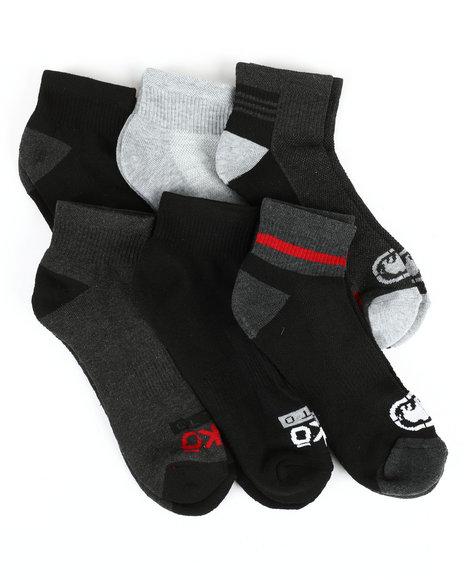 Ecko - 6 Pack Quarter Cushion Socks