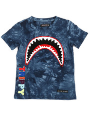 Tops - Trippy Tie Dye Shark Mouth T-Shirt (5-18)-2361872