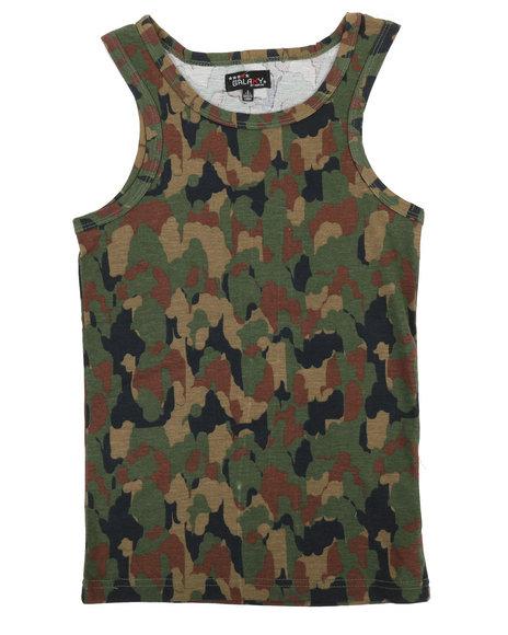 Arcade Styles - Camouflage Design Tank Top (8-20)