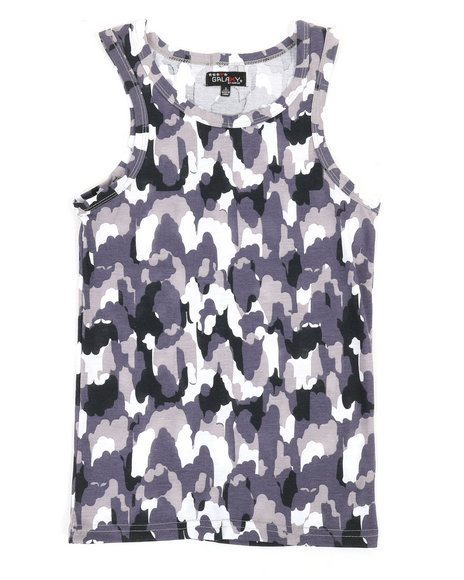 Arcade Styles - Camouflage Design Tank Top (8-20)