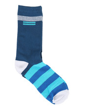 DRJ SOCK SHOP - Cut Stripes Crew Socks-2356699