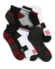 Ecko - 6 Pack Quarter Cushion Socks-2356713