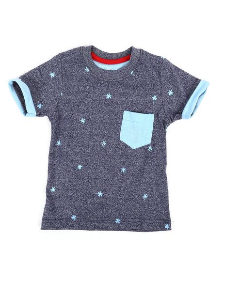 Arcade Styles - Allover Marled Palm Tree Print Tee (2T-4T)
