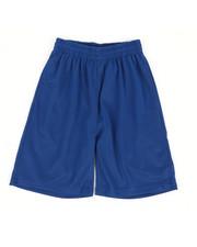 Bottoms - Solid Mesh Shorts (8-20)-2362839