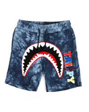 Shorts - Trippy Tie Dye Shark Mouth Shorts (5-18)-2361865