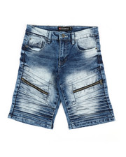 Arcade Styles - Stretch Biker Denim Shorts (8-20)-2360515