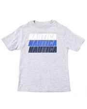 Boys - Nautica Logo Printed S/S Tee (4-7)-2364547