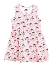 Dresses - Cat Print Knit Dress (4-6X)-2363955