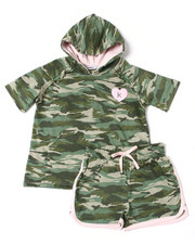 Girls - Suzette French Terry Hoodie Short Set (4-6X)-2364167